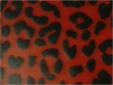 Strukturlatex: Leopard Rot - 80 x 100 cm