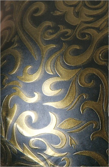 Strukturlatex: Damast gold - 80 x 50 cm