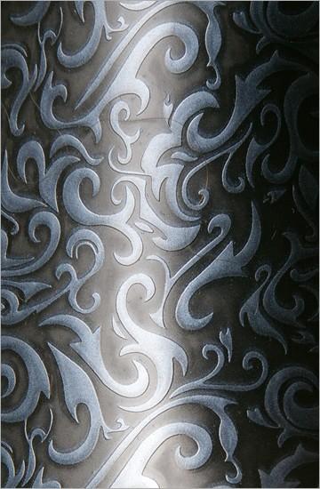 Strukturlatex: Damast silber - 80 x 50 cm