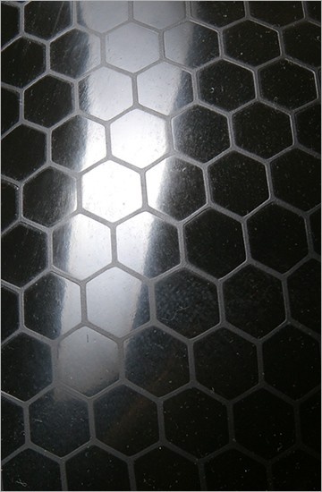 Strukturlatex: Hexagon schwarz - 80 x 100 cm