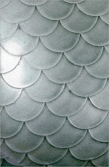 Strukturlatex: Fischschuppen silber - 80 x 50 cm