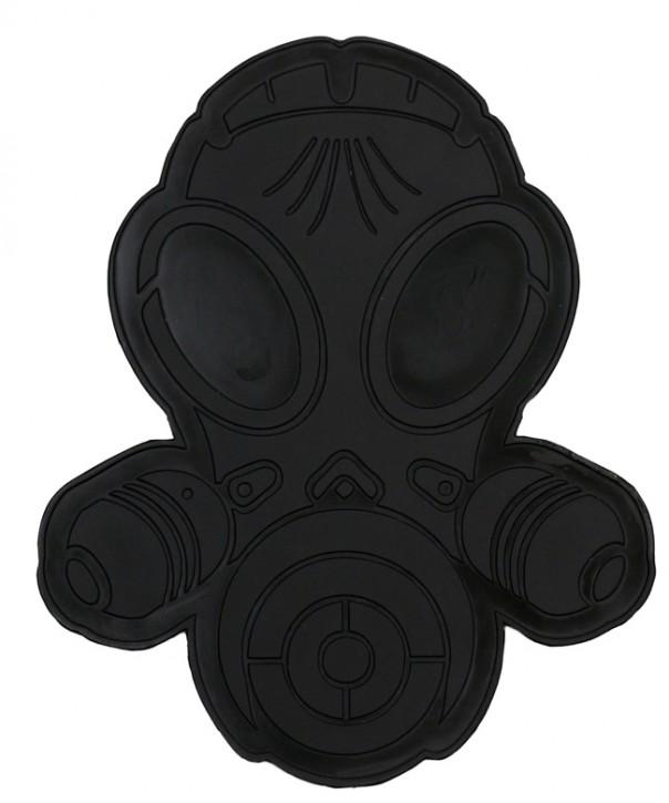 Latexpatch Gasmaske - schwarz, klein