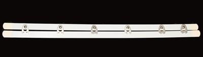 Miederschließe - Weiß, 36 cm, 6 Verschlüsse