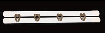Miederschließe - Weiß, 20 cm, 4 Verschlüsse