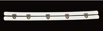 Miederschließe - Weiß, 28 cm, 5 Verschlüsse