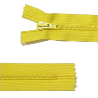 Standard Kunststoff Reißverschluss, gelb, 18 cm