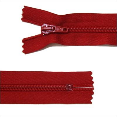 Standard Kunststoff Reißverschluss, rot, 30 cm