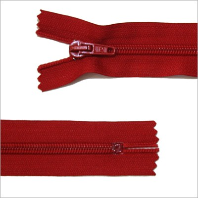 Standard Kunststoff Reißverschluss, rot, 18 cm