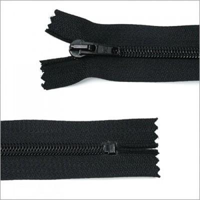Standard Kunststoff Reißverschluss, schwarz, 18 cm