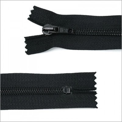 Standard Kunststoff Reißverschluss, schwarz, 26 cm
