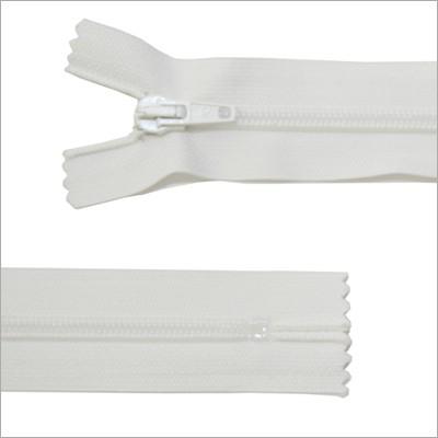 Standard Kunststoff Reißverschluss,  weiß, 30 cm
