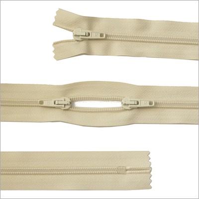 Kunststoff-Reißverschluss, 3 Wege, beige, 115 cm