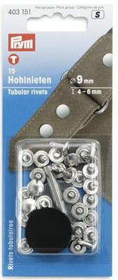 Hohlnieten 4-6 mm silber - 15 Stück