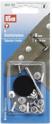 Hohlnieten 6-9 mm silber - 8 Stück