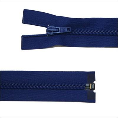 Kunststoff-Reißverschluss, teilbar, blau, 65 cm