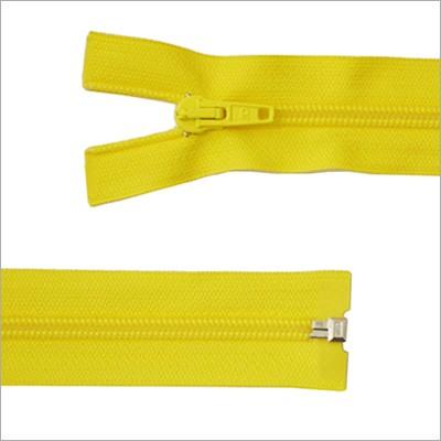 Kunststoff-Reißverschluss, teilbar, gelb, 65 cm