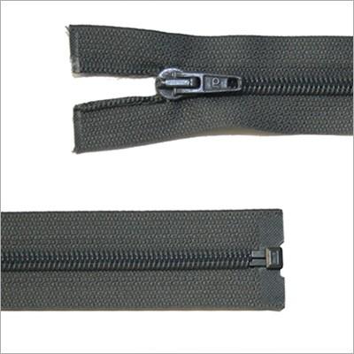 Kunststoff-Reißverschluss, teilbar, grau, 65 cm