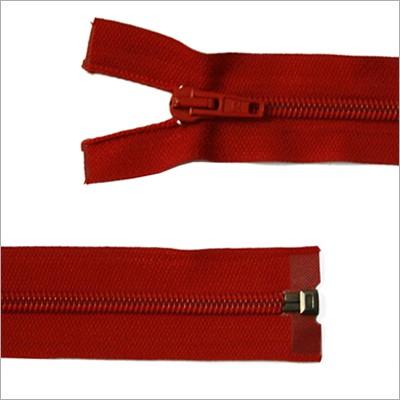 Kunststoff-Reißverschluss, teilbar, rot, 65 cm