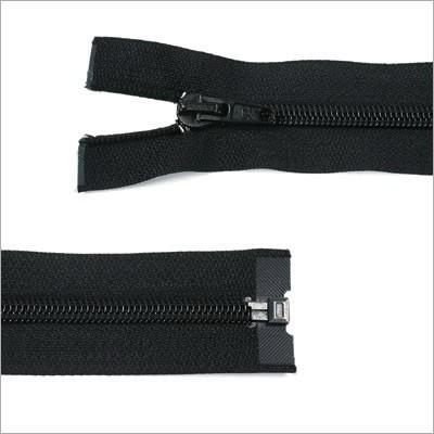 Kunststoff-Reißverschluss, teilbar, schwarz, 55 cm