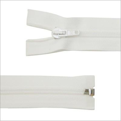 Kunststoff-Reißverschluss, teilbar,  weiß, 65 cm