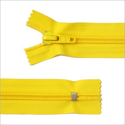 Breiter Kunststoff Reißverschluss, gelb, 11 cm