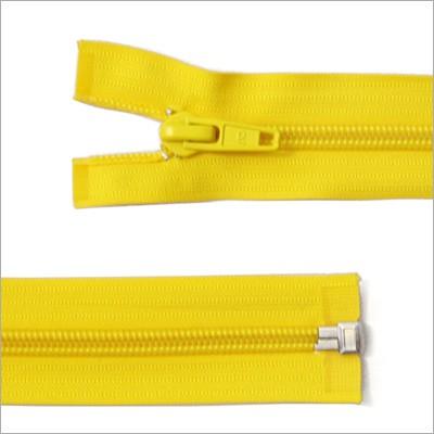 Breiter Kunststoff Reißverschluss, gelb, teilbar, 85 cm