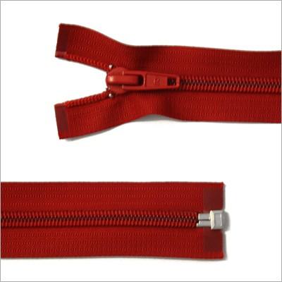 Breiter Kunststoff Reißverschluss, rot, teilbar, 85 cm