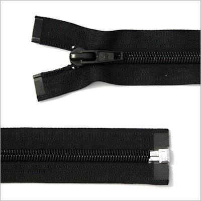 Breiter Kunststoff Reißverschluss, schwarz, teilbar, 85 cm