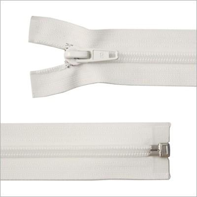 Breiter Kunststoff Reißverschluss, weiß, teilbar, 85 cm