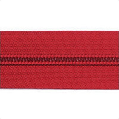 Reißverschluss-Meterware - rot
