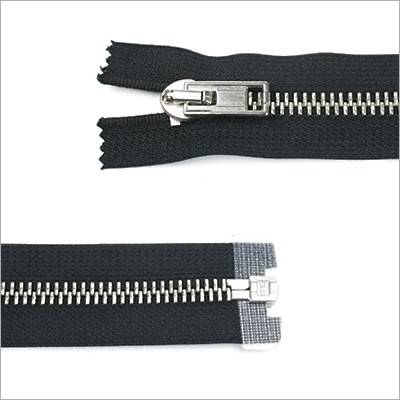 Metall Reißverschluss, breit, teilbar, 80 cm