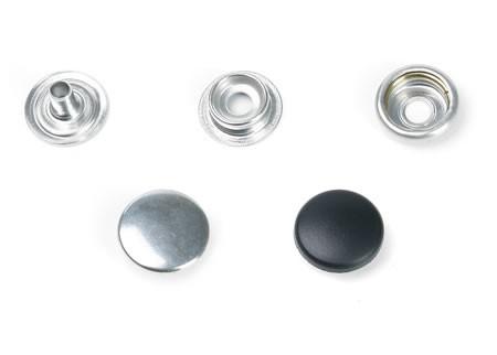 Druckknopf, groß, 15 mm Durchmesser, silber