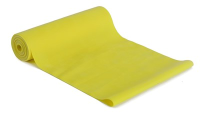 Latex-Fitnessband, 150 cm - Gelb, für sehr leichte Übungen