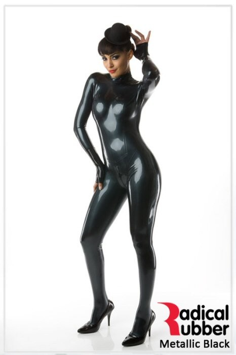 Latexmeterware Metallic Schwarz 0,40 mm - RadicalRubber
