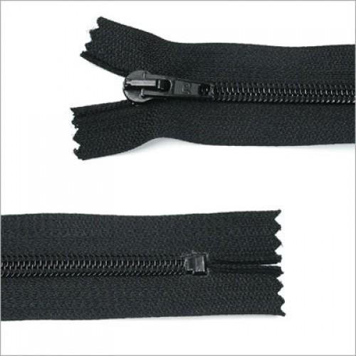 Standard Kunststoff Reißverschluss, 30 cm, Schwarz