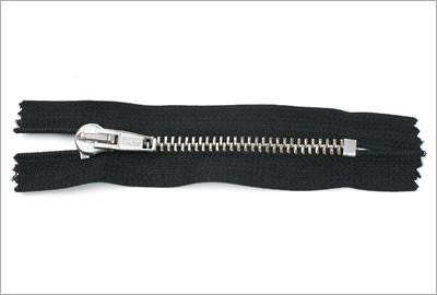 Standard Metall Reißverschluss, schwarz, 8 cm