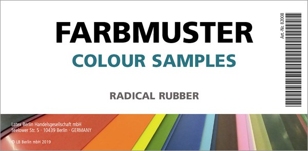 Latex Farbmusterset  - Radical Rubber