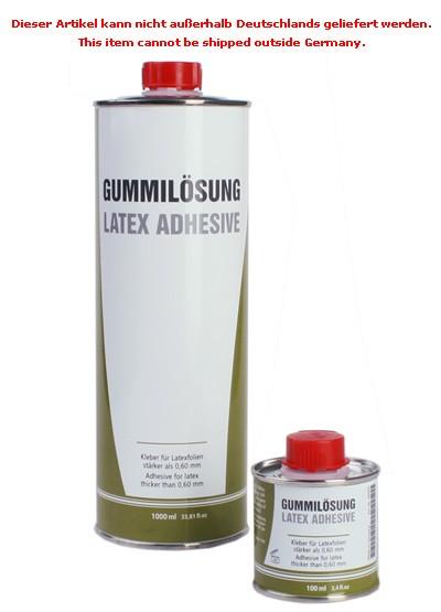 Gummilösung für Latex > 0,6 mm, 100 ml