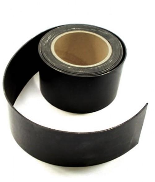 Gummistreifen 3mm dick mit textiler Einlage, 130mm breit