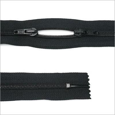 Kunststoff-Reißverschluss, 2-Wege, O-Form, 45 cm