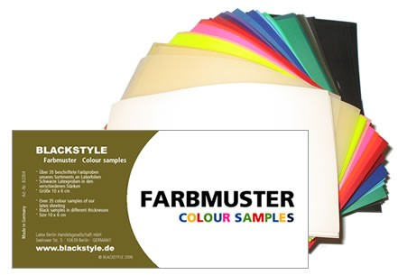 Latex Farbmusterset  - Four D Rubber