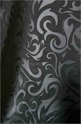 Strukturlatex: Damast schwarz - 80 x 50 cm