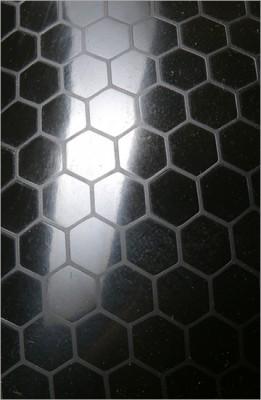 Strukturlatex: Hexagon schwarz - 80 x 50 cm