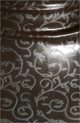 Strukturlatex: Spitze schwarz - 80 x 50 cm