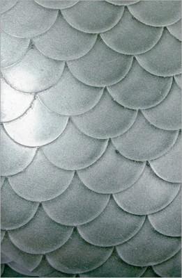 Strukturlatex: Fischschuppen silber - 80 x 100 cm