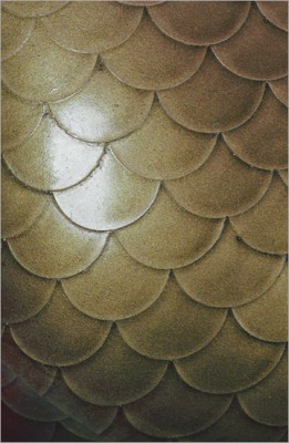 Strukturlatex: Fischschuppen rauchgrau - 80 x 50 cm