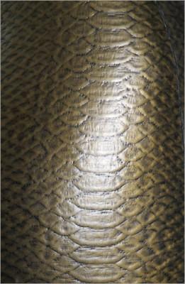 Strukturlatex: Schlangenhaut gold - 40 x 100 cm