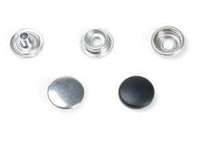 Druckknopf, gross, 15mm Durchmesser, silber