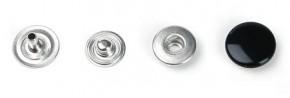 Druckknopf, klein, 11mm Durchmesser, schwarz