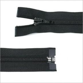 Kunststoff-Reißverschluss, teilbar, 65cm, Schwarz